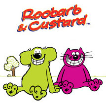 Roobarb and Custard cartoon dog and cat