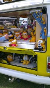 bay window yellow camper van garfield