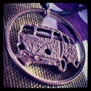 Campervan half crown coin necklace Louis Edwards