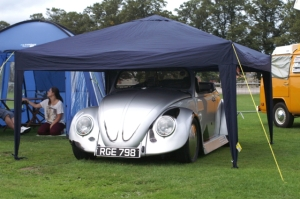 vw beetle silver relentless gazebo field of dreams