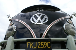 split screen deluxe trim camper van vw field of dreams