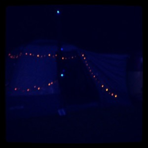 dubs in't dales tent awning fairy lights grotto