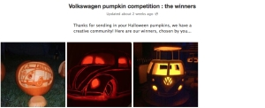 pumpkins facebook uk volkswagen