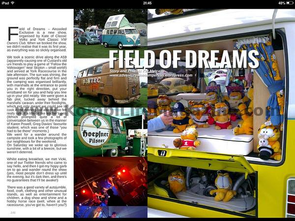 Kombi Life Magazine: Custard in print. – Campervantures