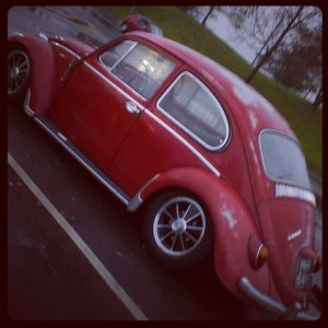 red vw beetle patina slammed