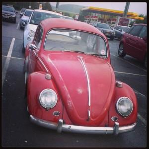 red vw beetle patina slammed