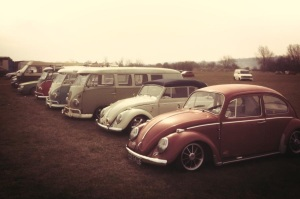 show and shine line up beetles campers