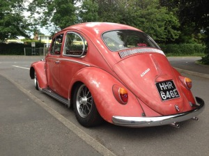 ruby red patina beetle vw slammed stanc