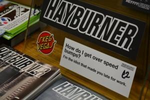 hayburner sticker speed bumps lowered slammed idiot dubfreeze